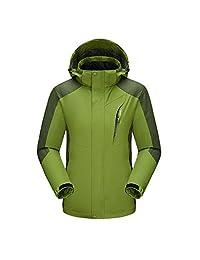 Eleter Unisex Waterproof Outdoor Hooded Softshell Mountaineer Travel Jackets