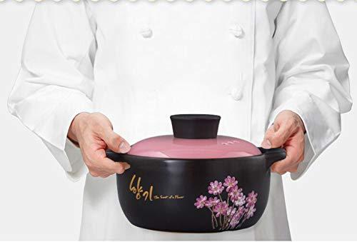 GJJ High Temperature Heat-.Resistant Ceramic Soup Pot Casserole, Natural Health Casserole, Pot Ceramic Pot,Black,3 Liters by GJJ (Image #5)
