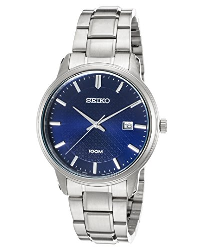 Seiko Watches Mens Neo Classic Stainless Steel Watch (Navy)