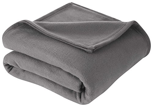 Martex Super Soft Fleece Blanket - Twin, Warm, Lightweight, Pet-Friendly, Throw for Home Bed, Sofa & Dorm - Smoked Pearl ()