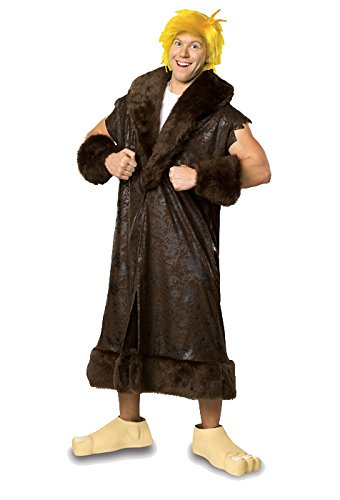 Barney Rubble Costume - Plus Size - Chest Size 46-50 (Betty And Barney Rubble Costumes)