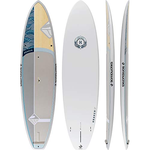 Bamboo Paddle Board - Boardworks Kraken All-Water Stand-Up Paddleboard (SUP) - 11'