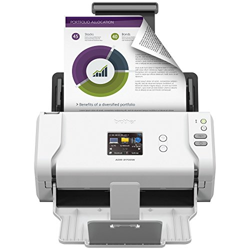 Brother Wireless High-Speed Desktop Document Scanner, ADS-2700W, Touchscreen LCD, Duplex Scanning (Renewed)