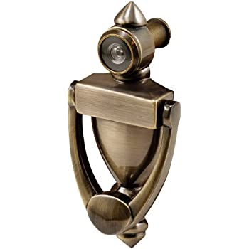Prime Line Products S 4235 Door Knocker U0026 Viewer, Diecast Construction,  Antique Brass