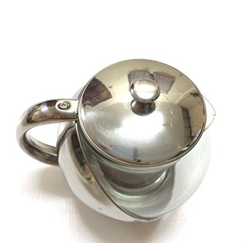 Half-Moon Teapot and Tea Strainer Set & Lid Teapot Kettle Kitchen Dining 25.36 oz. by Pisana1979 (Image #1)