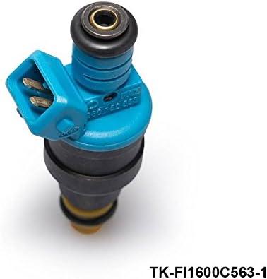 4 pcs New High Performance Low Impedance 1600cc 160LB EV1 Top Fuel Injectors