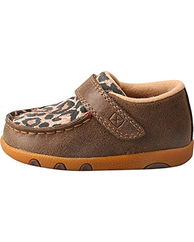 Pictures of Twisted X Infant-Girls' Leopard Driving Moccasins - 2
