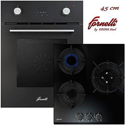 Fornelli/FEA 45 SONATA BK y PGA 45 FIERO BL - Horno multifunción ...