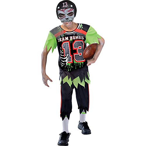 Suit Yourself Zombie Football Player Halloween Costume for Boys, Large, with Mask]()