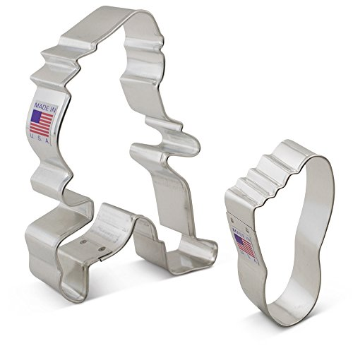 Bigfoot / Sasquatch Cookie Cutter Set - 2 piece - Bigfoot, Foot - Ann Clark - US Tin Plated (Bigfoot Suits)