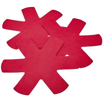 Anti-Scratch Pan Protectors Red 3 Pack lakeland
