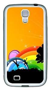 Rainbow Fun Custom TPU Rubber Case Cover for Samsung Galaxy S4 / SIV / I9500 White