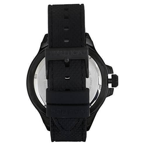 Nautica herr datum klassisk kvartsklocka med silikonarmband NAPAUC004