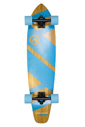 The Super Cruiser 36'' Remix Aqua Blue Bamboo and Maple Deck Longboard Skaeboard by Quest Skateboards