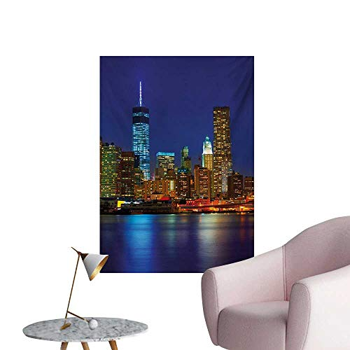 Anzhutwelve Urban Photographic Wallpaper Manhattan Sunset Skyline Famous
