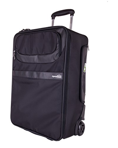 Genius Pack 22'' Carry on w/ Intergrated Suiter (One Size, Black) by Genius Brands, LLC