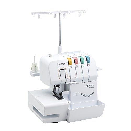Brother 1034DX, 3/4 Thread Serger with Feed, 3 or Thread Per Color-Coded Threading Guides