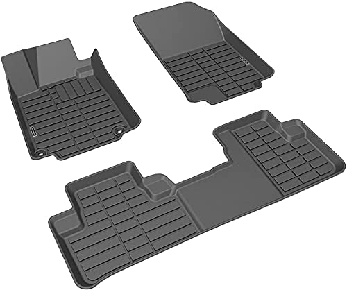 Dacalo Car Floor Mats Fits 2012-2016 Honda CR-V CRV All Weather Front & Rear Custom Fit Car Floor Liners,TPE Material,1st & 2nd Row, Tough/Durable/Odorless,Black