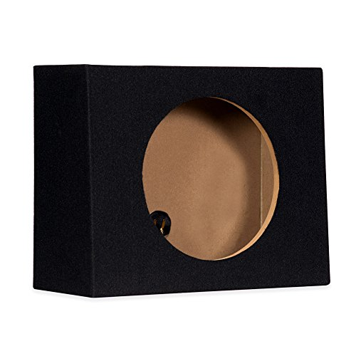 Sycho Sound New Single Car Truck Wedge Black Subwoofer Box Sealed Enclosure for 12-Inch Woofer 12F - Subwoofer Boxes For Trucks