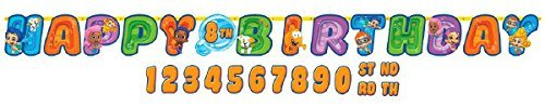 Bubble Guppies Kids Birthday Party Jumbo Add An Age Letter Banner 10 Ft. (1ct) by Bubble Guppies   B00U6P4RLM