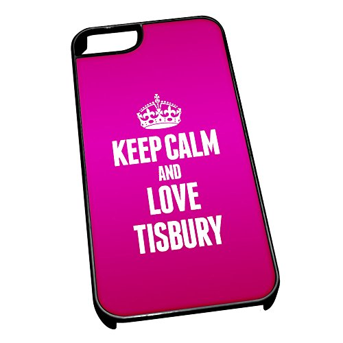 Nero cover per iPhone 5/5S 0654Pink Keep Calm and Love Tisbury