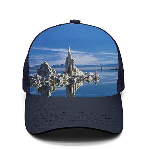 California Mono Lake Nature Reserve Custom Baseball Caps Unisex Adjustable Mesh Snapback hat ()