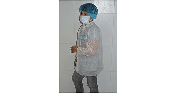 22137-Bata protección desechable infantil médica para: clínicas - laboratorios - esteticien - alimentación - dentistas - veterinarios - enfermerías.