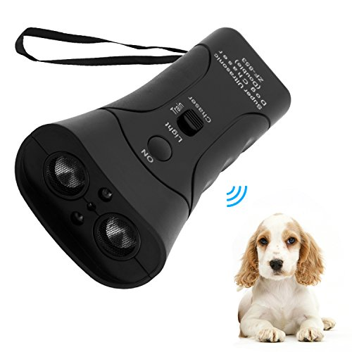 Electronic Animal Repellent - Handheld Dog Repellent, Dual Channel Electronic Animal Repellent, Handy Ultrasonic Dog Deterrent for Outdoor Camping Garden, Bark Stopper + Good Behavior Dog Training (dual channel)