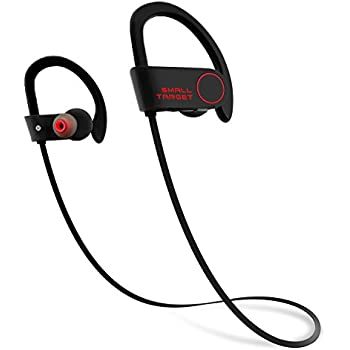 Bluetooth Headphones,Small Target Best Wireless Sports Earphones with Mic IPX7 Waterproof Stable Fit In Ear Earbuds Noise Isolating Stereo Headset 9-Hour ...