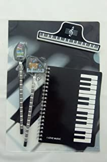Stationery & Office Supplies 1 PIECE ONLY Black and White Piano Keys Design A4 Plastic Folder