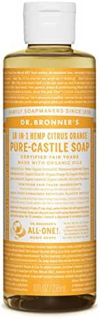 Dr. Bronner Citrus Orange Liquid Soap, 8 Ounce