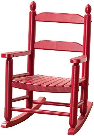 B Z KD-20R Child Toddler Little Porch Rocker Classic Red Indoor Outdoor