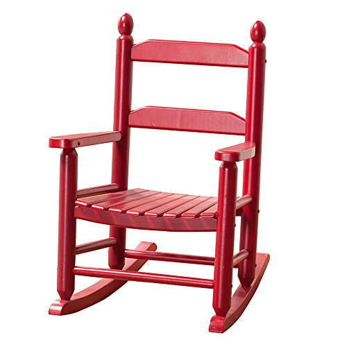 B&Z KD-20R Child Toddler Little Porch Rocker Classic Red Indoor Outdoor