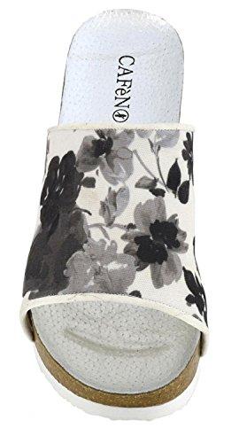 Fabric Ciabatta Floral Noir MHA902226380 MULTINERO E17 Cafè on 226 39 ANATOMICO TB0HUnwq
