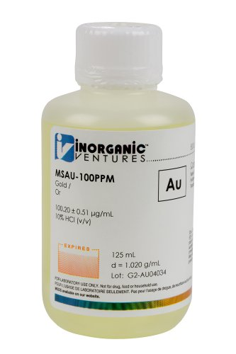 Inorganic Ventures Msau 100Ppm 100Ppm Gold  Au  Single Element Standard For Icp Ms  125Ml Volume