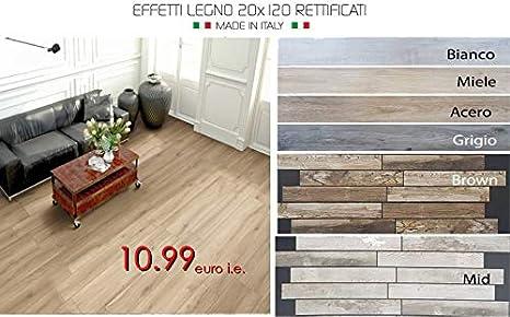 Campione: piastrelle pavimento gres effetto legno rettificato 20 x