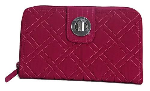 Vera Bradley RFID Turnlock Women's Wallet, Passion Pink, 21952 ()