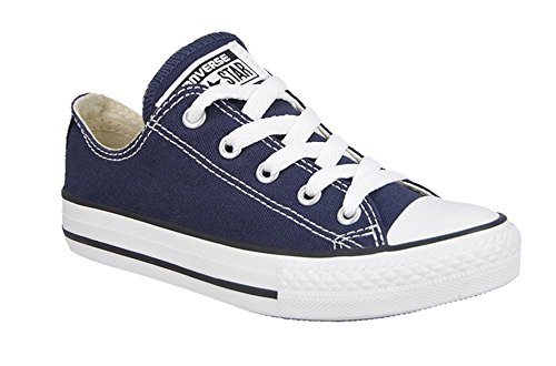 Converse All Star Low Top Kids/Youth Shoes Boys/Girls Sneakers (2.5 Kids, Low Navy Blue)