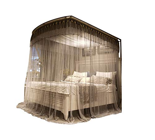 Mosquito net Indoor Mosquito net Outdoor Mosquito net Travel Mosquito net Anti-Mosquito Insect net Palace Mosquito net Bedroom Decoration, Gray, L (97-220Adjustment) W200cm by RFVBNM Mosquito net (Image #7)