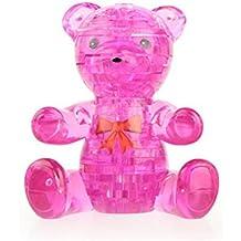Fiaya 3D Cute Bear Crystal Puzzle Model DIY Gadget Building Blocks Toy Hot