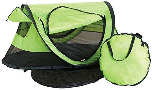 KidCo Peapod Plus Portable Bed with Bonus Gate Check Bag Kiwi