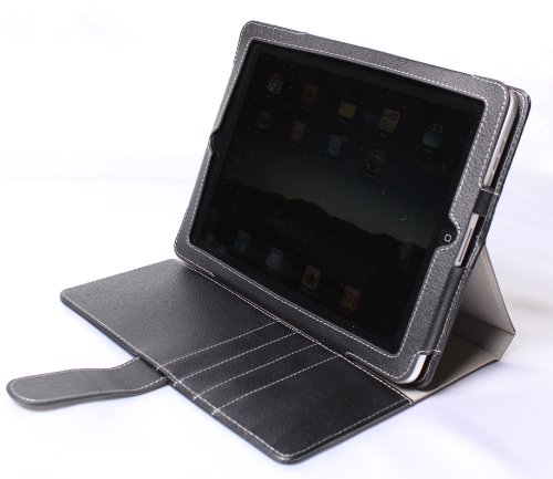 Apple iPad PU Leather Portfolio / Adjustable Stand Combo Carrying Case for Apple iPad 3G Wifi 16GB 32GB 64GB made by Gilsson (Black) SPECIAL HOLIDAY PROMO PRICE. Guaranteed The Best Case for Your iPad!