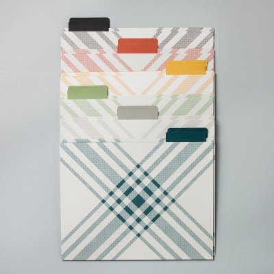 Plaid File Folders (12ct) - Hearth & Hand153; with Magnolia MULTI-COLORED