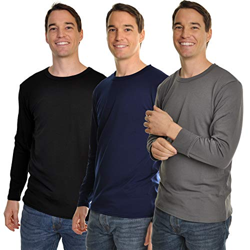Swan Men's Fleece-Lined Long-Sleeve Thermal Tops - Sleeve Underwear Long Tops