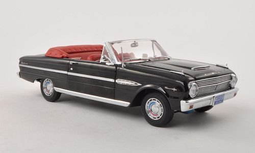 Convertible 1963 Ford (Ford Falcon Convertible, black, 1963, Model Car, Ready-made, Sun star 1:18)