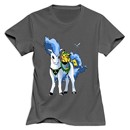 Yisw Women Pikachu Pokemon T-Shirt XS DeepHeather Slim Fit Quotes T-Shirts