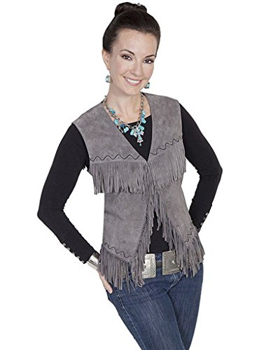 scully-womens-western-suede-fringe-vest-grey-large