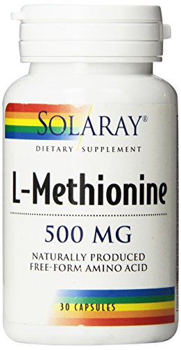 Solaray L-Methionine Free Form Supplement, 500 mg, 30 Count