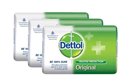 Dettol Bar Soap Original 3X105G-provides Trusted Dettol Protection from a Wide Range of Unseen Germs. It cleanses and Protects Your Skin for a hygienic and Clean