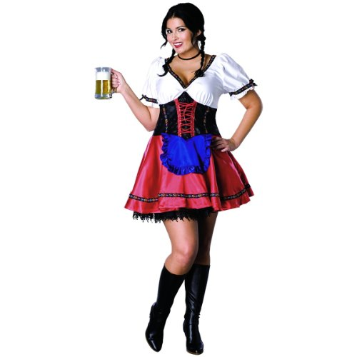 Plus Size Beer Garden Girl Costume (Adult Gretel Costume)